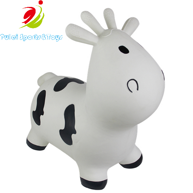 White Cow Bouncy Cow Hopper with Pump